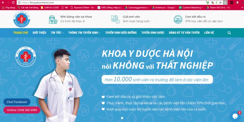 website của khoa