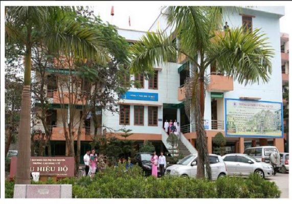 Một góc khuôn viên trường Cao đẳng y tế Thái Nguyên